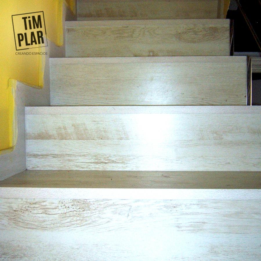 escalera madera